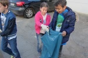 Müllsammelaktion mit der Stephanusschule 2017